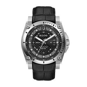 Bulova Precsionist Black 46mm Steel Watch